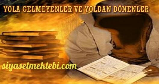 Photo of YOLA GELMEYENLER VE YOLDAN DÖNENLER…